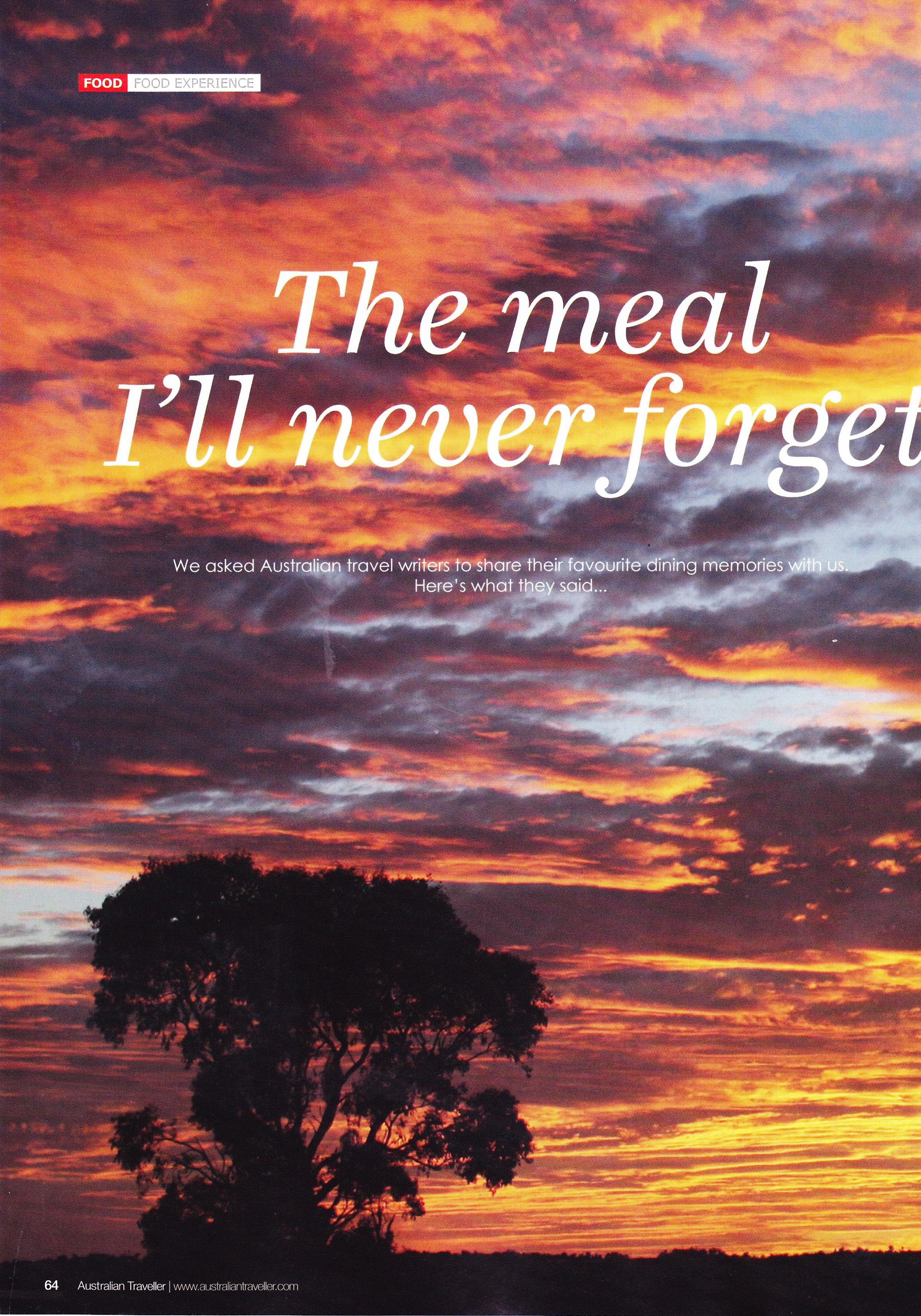 Australian Traveller – The Food Issue – Aug Sept 2013