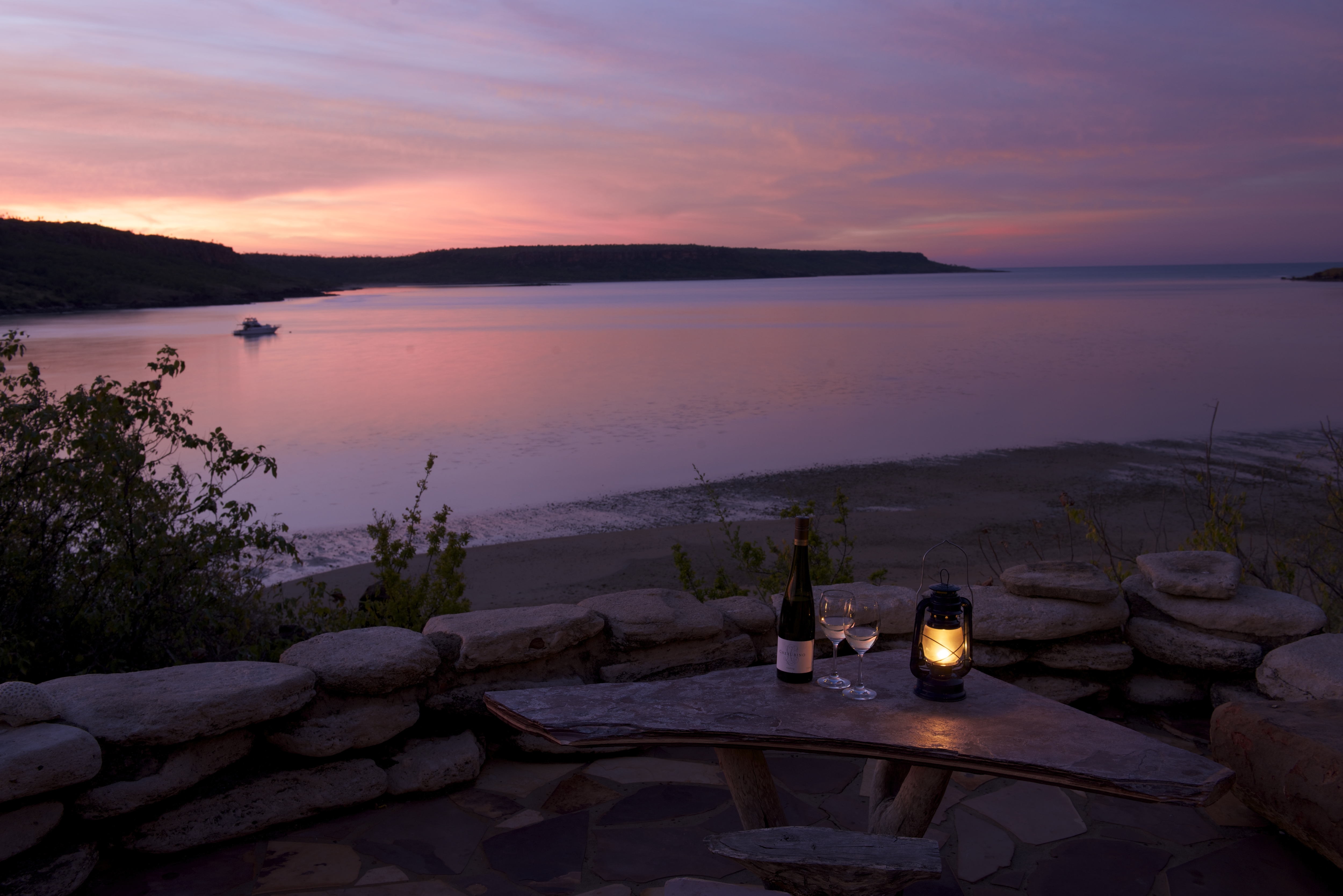 Faraway Bay's Wine in the Wilderness – sunset 03 – credit Ben Knapinski
