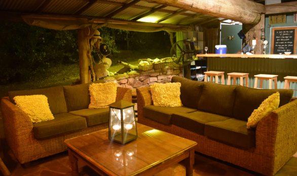 Eagle Lodge lounge at night