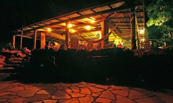 Eagle Lodge at night